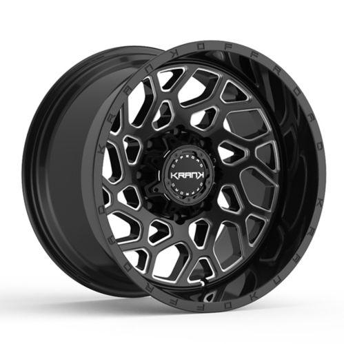 Krank Ambush Wheel, Gloss Black Milled Product image