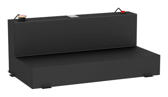 UWS L-Shape Steel Transfer Tank, Matte Black, 100-Gallon Product image