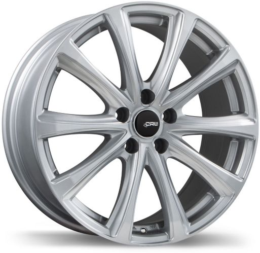 CRW GT2 Alloy Wheel, Gloss Silver Product image
