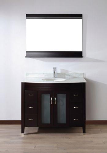 Urban Bathe Alba Bathroom Vanity with Marble Top, Chai/Carrera, 42-in Product image