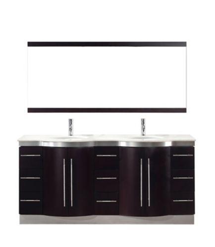 Urban Bathe  Dinara Bathroom Vanity Double Sink, 72-in Product image