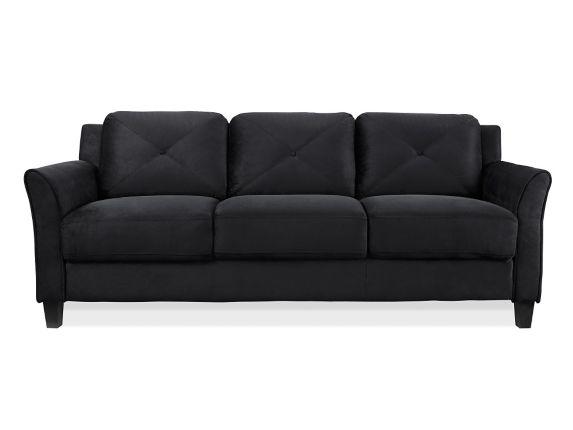 Canapé Hartford à accoudoirs incurvés, noir Image de l'article
