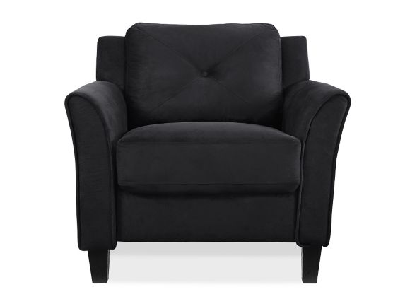 Hartford Curved Arm Chair, Black Product image