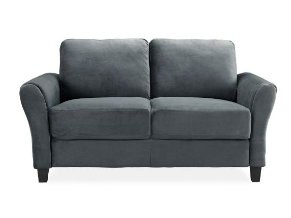 Westin Rolled Arm Loveseat, Grey Product image