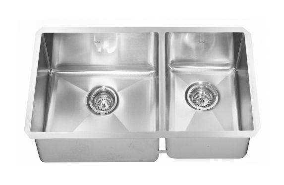 Évier de cuisine sous comptoir combiné à 2 profondeurs Kindred Designer, 26 po Image de l'article