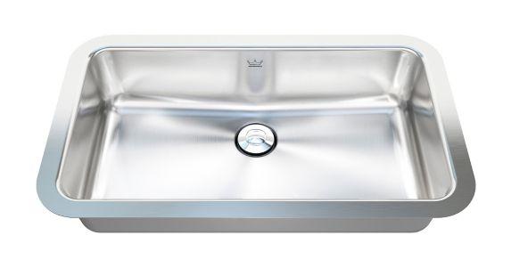 Lavabo de salle de bain à montage sous comptoir au fini satiné éclatant Kindred Image de l'article