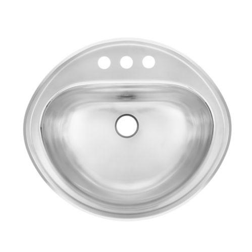 Évier à monture supérieure pour salle de bain Kindred, 18 1/2 po Image de l'article