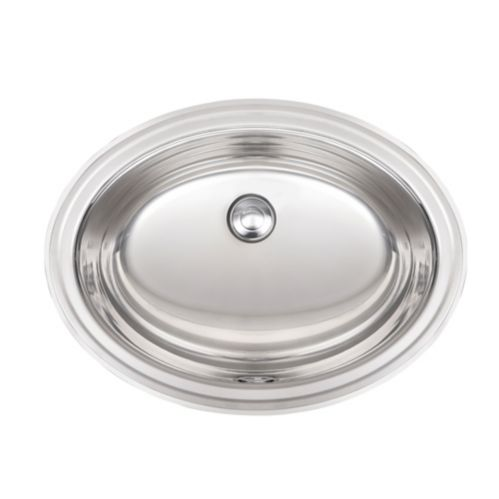 Kindred Vanity Bathroom Top Mount Oval Sink, 17 3/4-in Product image