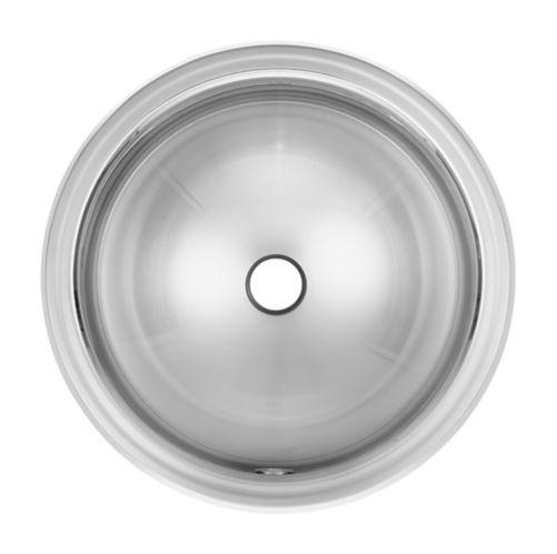 Évier rond à monture supérieure pour salle de bain Kindred, 14 po Image de l'article