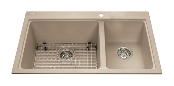 Kindred Mythos Kitchen Granite Kitchen Top Mount Various Depth Combination Sink, 31 9/16-in Product image