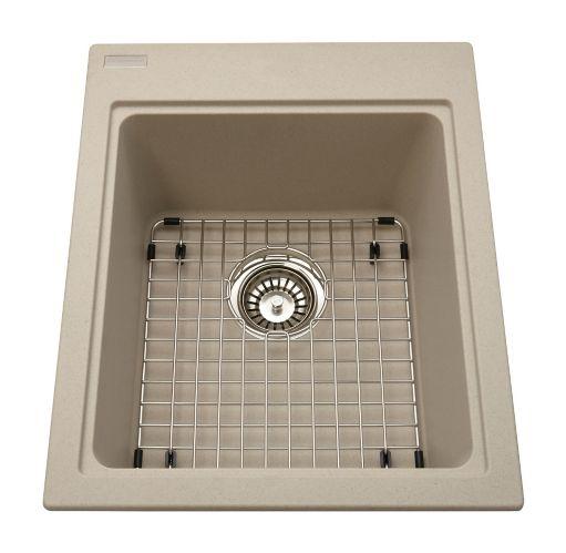 Kindred Mythos Kitchen Granite Top Mount Single Sink, 16 3/4-in Product image