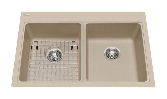 Kindred Mythos Kitchen Granite Various Depth Top Mount Double Sink Product image
