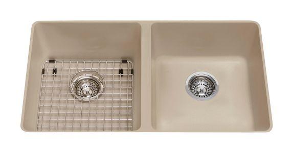 Évier double de cuisine sous comptoir en granite Kindred Mythos, 31 9/16 po Image de l'article