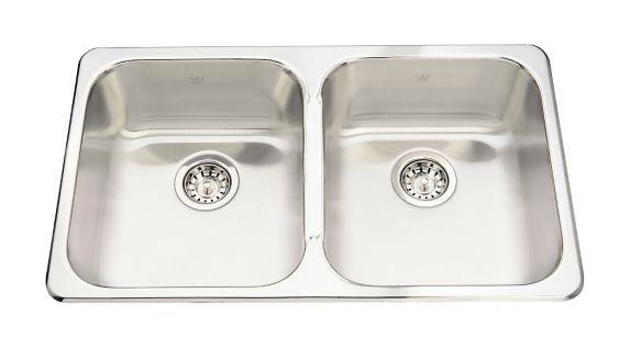 Évier de cuisine double à monture supérieure Kindred Steel Queen, 31 1/4 po Image de l'article