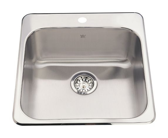 Kindred Steel Queen Kitchen Top Mount Single Sink, 8-in deep Product image