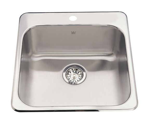 Kindred Steel Queen Kitchen Top Mount Single Sink, 7-in deep Product image
