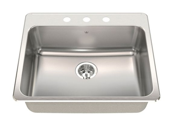 Kindred Steel Queen Kitchen Top Mount Single Sink Product image