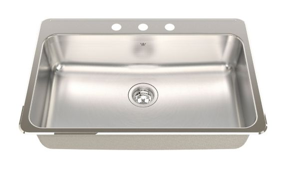 Kindred Steel Queen Kitchen Top Mount Single Sink, 31-1/4-in Product image