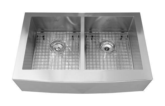 Évier de cuisine double à monture double et à tablier Kindred Steel Queen Image de l'article