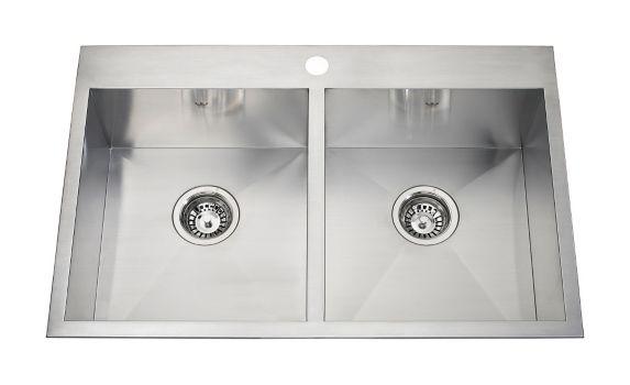 Évier de cuisine double à monture double Kindred Steel Queen Image de l'article
