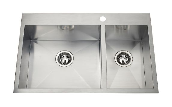 Kindred Steel Queen Kitchen Dual Mount Combination Sink, 31 1/4-in Product image