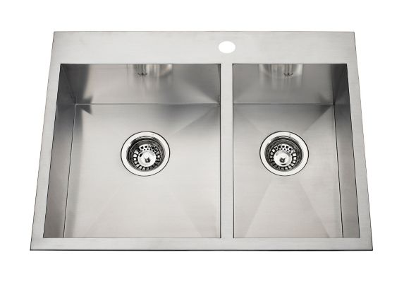 Kindred Steel Queen Kitchen Dual Mount Combination Sink, 27 1/4-in Product image