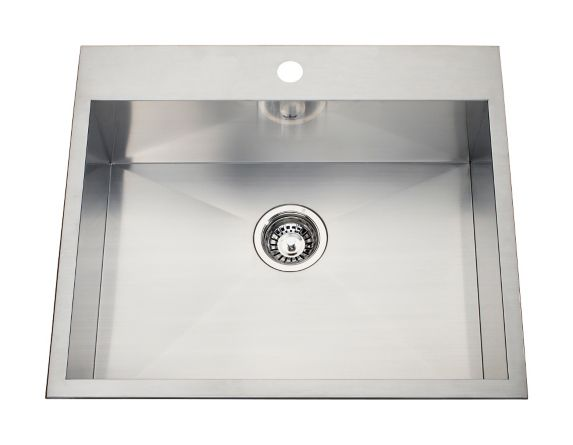 Kindred Steel Queen Kitchen Dual Mount Single Sink, 25-1/8-in Product image