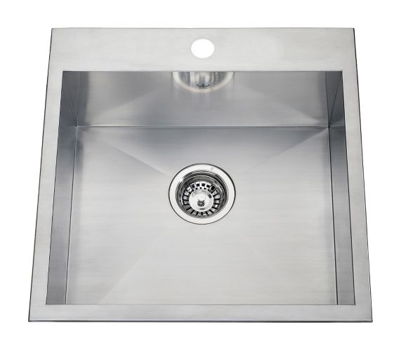 Kindred Steel Queen Kitchen  Dual Mount Single Sink, 20-in Product image
