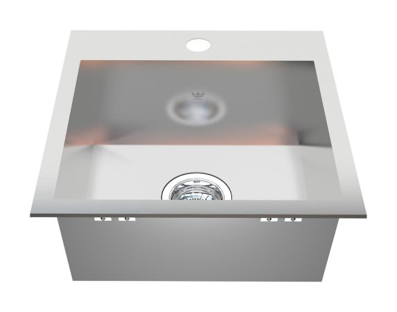 Kindred Steel Queen Kitchen Dual Mount Single Sink, 17-in Product image