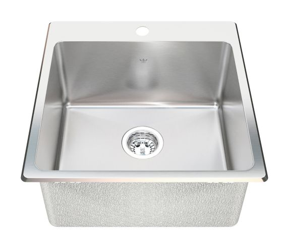 Kindred Steel Queen Dual Laundry Mount Single Sink,10-in deep Product image