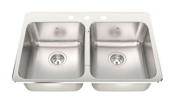 Kindred Steel Queen Kitchen Cuisinette Top Mount Double Sink Product image