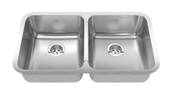 Kindred Steel Queen Kitchen Undermount Double Sink, 30 7/8-in Product image