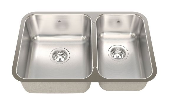 Kindred Steel Queen Kitchen Undermount Combination Sink, 26 7/8-in Product image