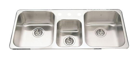 Kindred Steel Queen Kitchen Top Mount Triple Sink Product image
