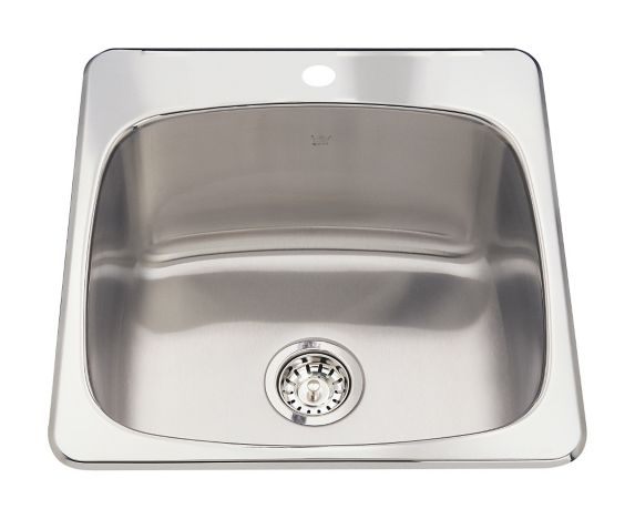 Cuve de lavage simple Kindred Steel Queen, 20 1/8 po Image de l'article