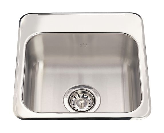 Kindred Steel Queen Hospitality  Single Bowl, 15 1/8-in Product image