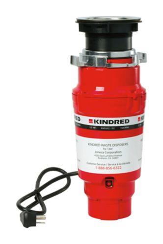 Broyeur à déchets à alimentation continue Kindred, 1/3 HP Image de l'article