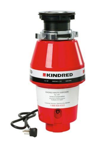 Broyeur à déchets à alimentation continue Kindred avec insonorisation, 1/2 HP Image de l'article