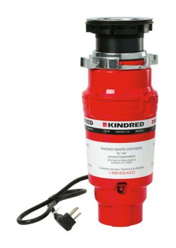 Broyeur à déchets à alimentation continue Kindred, 1/2 HP Image de l'article