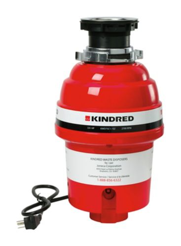 Kindred Continuous Feed Waste Disposer, 3/4-HP Product image