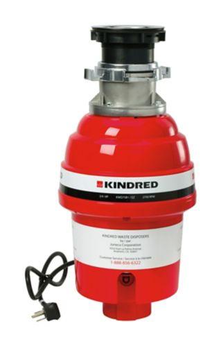 Broyeur à déchets Kindred, 3/4 HP Image de l'article