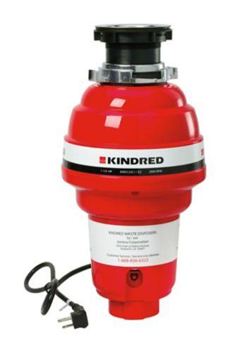Broyeur à déchets à alimentation continue Kindred, 1 1/4 HP Image de l'article