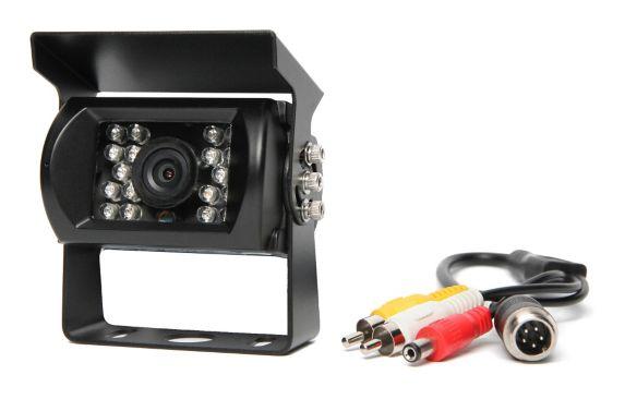 Système de caméra de recul à angle de vision de 130 degrés avec 18 lumières infrarouges et connecteurs RCA Image de l'article