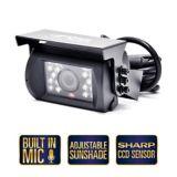 Système de caméra de recul à angle de vision de 130 degrés avec 18 lumières infrarouges et connecteurs RCA | Rear View Safetynull