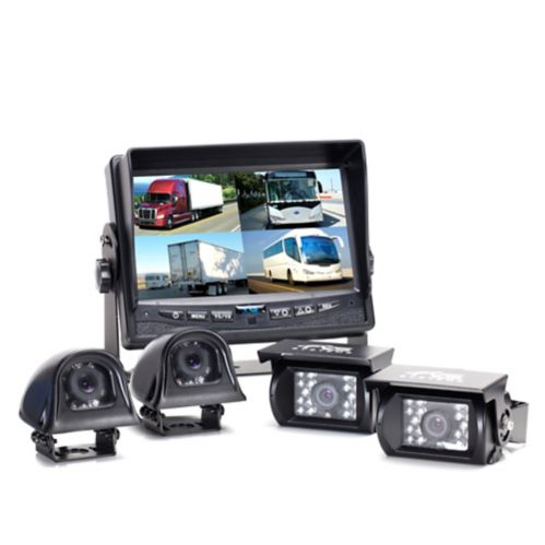Backup Camera System Four Camera Setup with Quad View Display Product image