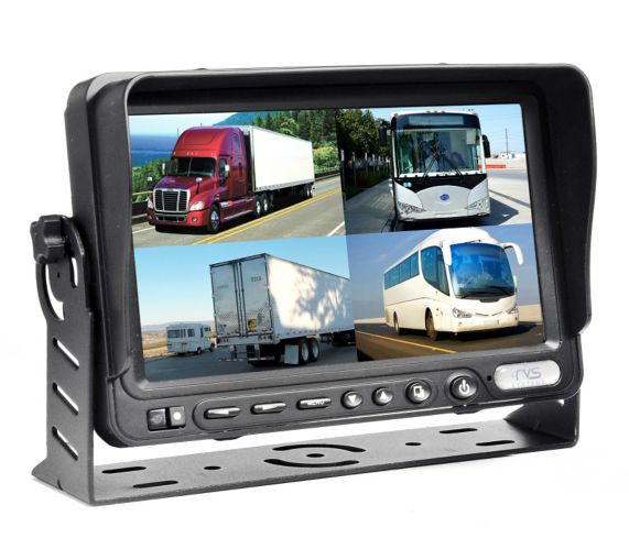 TFT LCD Quad View Monitor with Built-in DVR, 7-in Product image