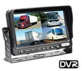 TFT LCD Quad View Monitor with Built-in DVR, 7-in | Rear View Safetynull