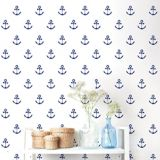 Adzif Blue Anchors Aweigh Wall Pattern Decal | ADZIFnull