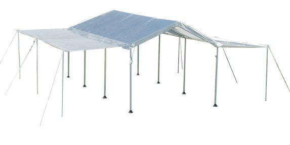 Auvent ShelterLogic à 8 montants, blanc, 10 x 20 pi Image de l'article