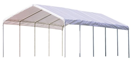 ShelterLogic Canopy 12-Leg Frame, White, 12-ft x 30-ft Product image